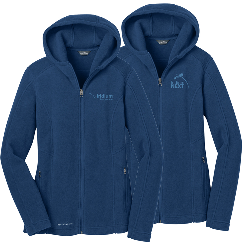 Ladies' Eddie Bauer® Hooded Full-Zip Fleece Jacket