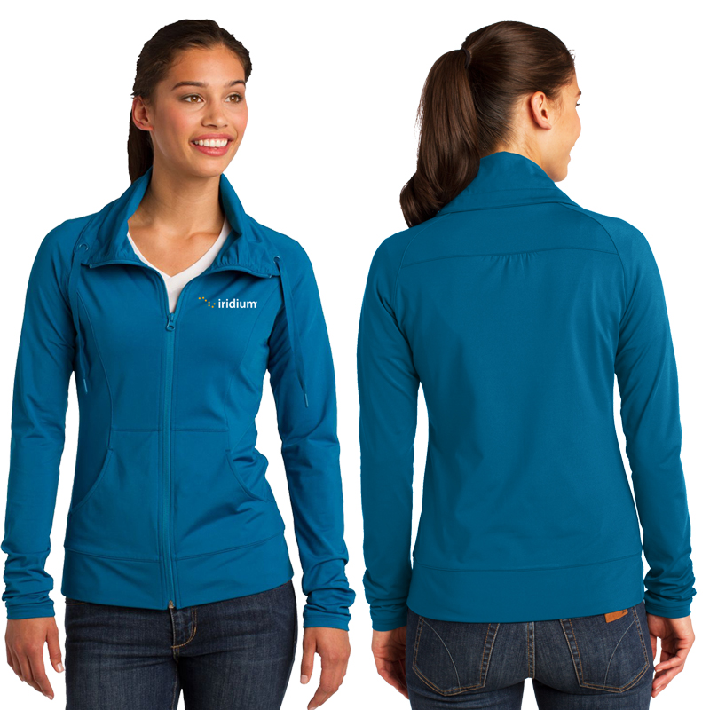 Ladies' Sport-Wick® Stretch Full-Zip Jacket