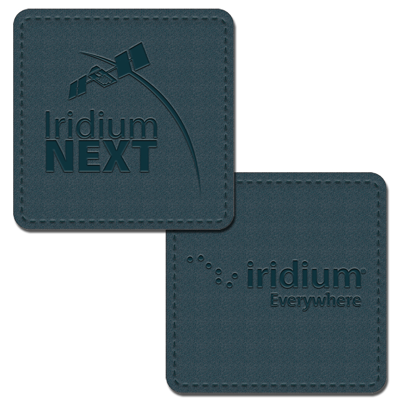 Double Sided Leather Business Square Coaster