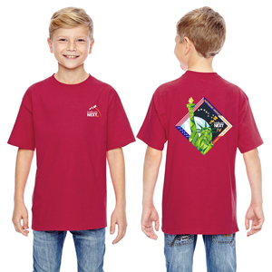 Launch Four Hanes Youth 4.5 oz., 100% Ringspun Cotton nano-T® T-Shirt