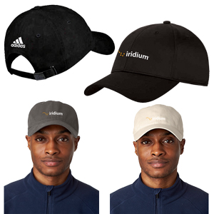 Adidas® Golf Performance Relaxed Cap - 100% cotton twill cap with self-fabric sweatband, relaxed contruction with adjustable buckle featuring adidas logo, dark underbill to reduce glare, and the adidas logo on the back.