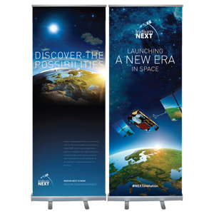 Retractable Banner Stand - Multi-use - Standard retractable banner stand with zippered carrying case.