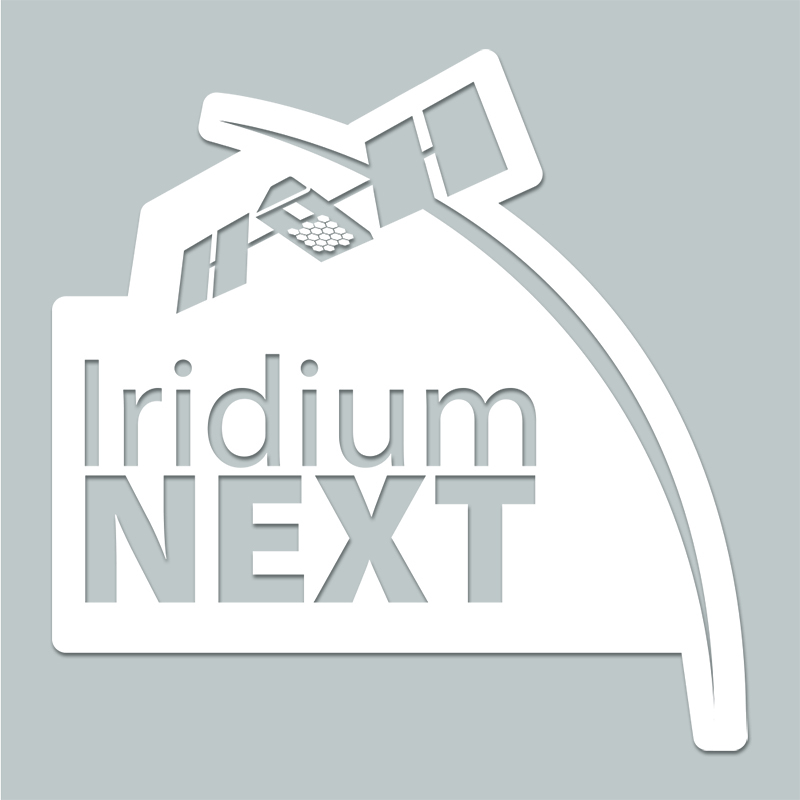 "3"" x 3.25"" Custom Shape Window Cling - Iridium NEXT custom shape window cling."