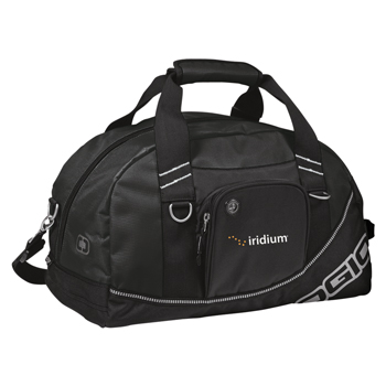 OGIO® Half Dome Duffel - Sized to fit the gym locker, this duffel opens wide to reveal a roomy interior that holds shoes and a change of clothes.