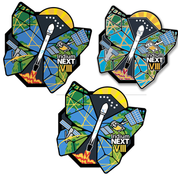 Launch Eight Kit - Includes one sticker, one patch and one pin for Launch Eight.