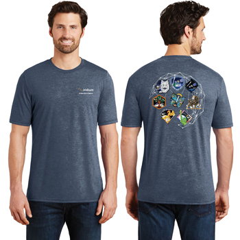 Iridium NEXT Launch Program District Made® Men's Perfect Tri® Crew Tee - Three yarns form the perfect blending of softness and an easygoing look.