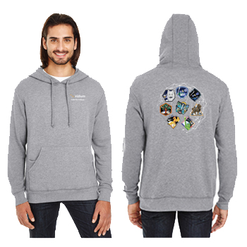 Iridium NEXT Launch Program Threadfast Apparel Unisex Triblend French Terry Hoodie - Unisex Tri-Blend hoodie.