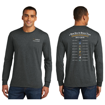 A New Era in Space Tour District Made® Men's Perfect Tri® Long Sleeve Crew Tee - The long sleeve version of our perfectly soft and comfortable crew.