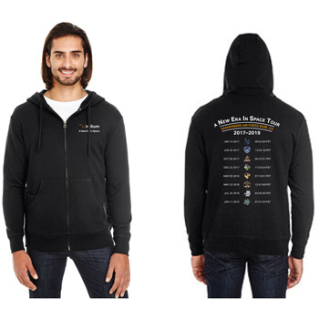 A New Era in Space Tour Threadfast Apparel Unisex Triblend French Terry Full-Zip - Unisex Tri-Blend Full-Zip.