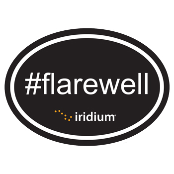 "#Flarewell Oval Sticker - 2.5"" x 3.5"" oval sticker."