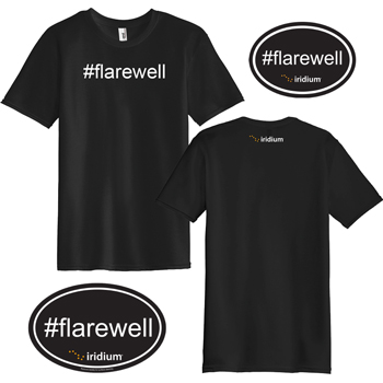 #Flarewell Men's Kit - Kit includes one #Flarewell short sleeve men's shirt, one #Flarewell oval magnet, and one #Flarewell oval sticker.