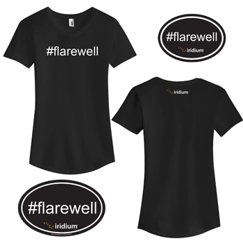 #Flarewell Ladies' Kit - Kit includes one #Flarewell short sleeve ladies' shirt, one #Flarewell oval magnet, and one #Flarewell oval sticker.