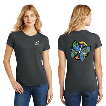 Launch Eight District Made<sup>&reg;</sup> Ladies' Perfect Tri<sup>&reg;</sup> Crew Tee - The perfect comfy tee crafted from three yarns for carefree style.