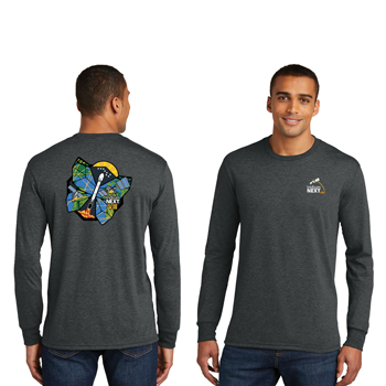 Launch Eight District Made<sup>&reg;</sup> Men's Perfect Tri<sup>&reg;</sup> Long Sleeve Crew Tee - The long sleeve version of our perfectly soft and comfortable crew.