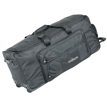 Rolling Duffle Bag - Made of weather-proof 1680-denier polyester with moisture resistance laminated vinyl including piping.