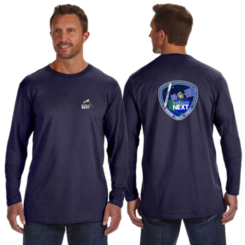 Launch One Hanes 4.5 oz., 100% Ringspun Cotton nano-T® Long-Sleeve T-Shirt - Hanes 4.5 oz., 100% Ringspun Cotton nano-T® Long-Sleeve Launch T-Shirt