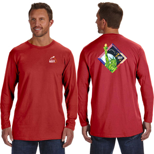 Launch Four Hanes 4.5 oz., 100% Ringspun Cotton nano-T® Long-Sleeve T-Shirt - Hanes 4.5 oz., 100% Ringspun Cotton nano-T® Long-Sleeve Launch T-Shirt