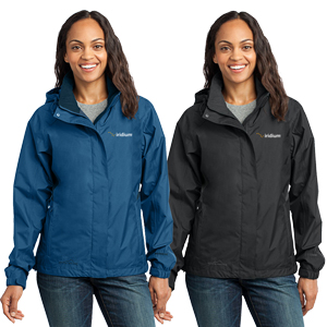 Ladies' Eddie Bauer® Rain Jacket - From misty mornings to evening downpours, this fully seam-sealed, completely waterproof colorblock jacket will help keep you dry, warm and protected from whatever Mother Nature throws at you.