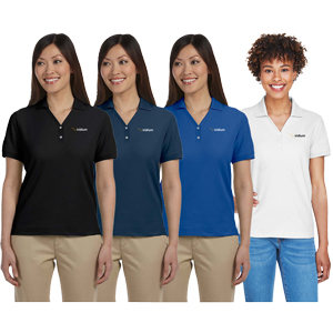 Ladies' Devon & Jones® Pima Pique Polo - 6.8 oz., 100% Peruvian Pima cotton polo.